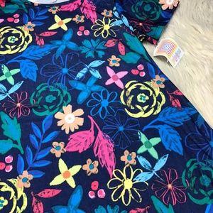 LuLaRoe Dresses - NWT LuLaRoe Blue Floral Carly Dress